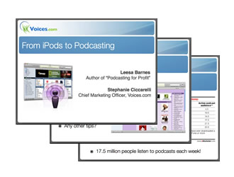 iPods to Podcasting