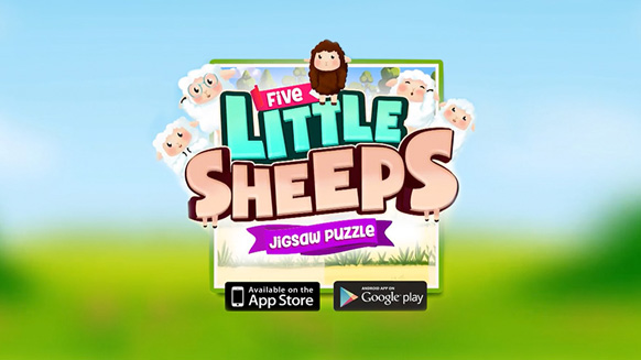 Five Little Sheeps Jigsaw Puzzle. Video Game for Mayadem