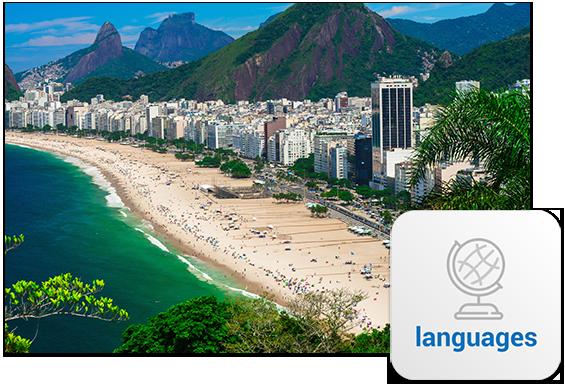 Thousands of Brazilian homes cascade across the grandiose mountains and beaches of Rio De Janeiro.