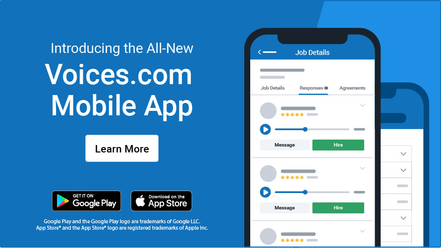 Introducing the All-New Voices.com Mobile App