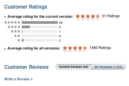 Rating an iPad App in the AppStore