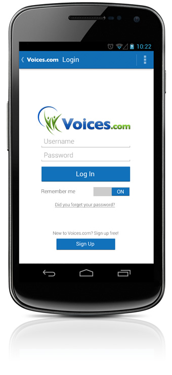 Log In to the Android App