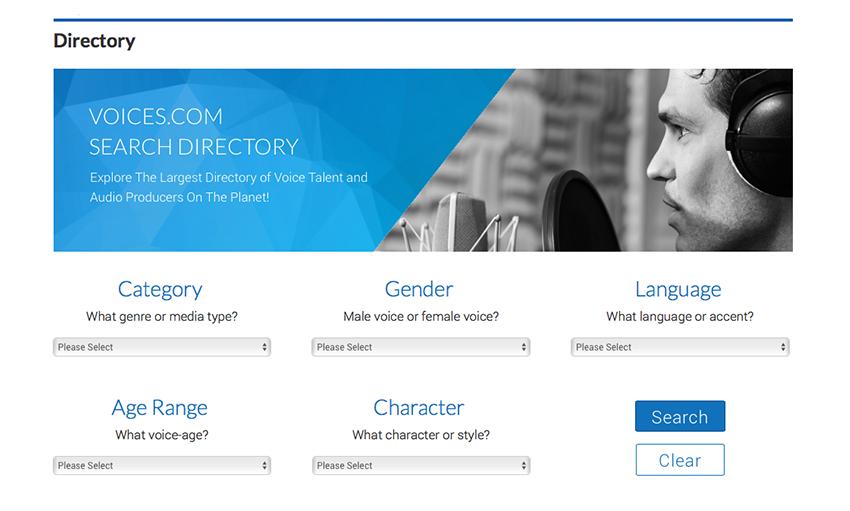 Voice Talent Directory