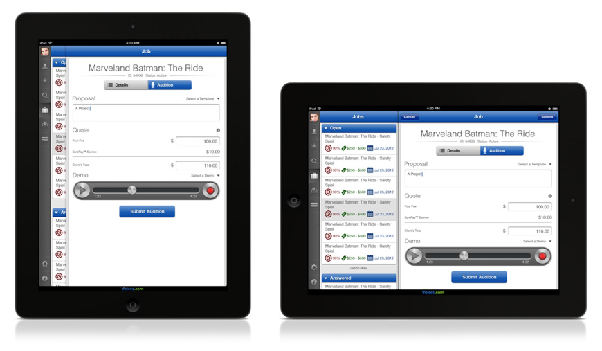 Audition For Voice Over Work From Your iPad