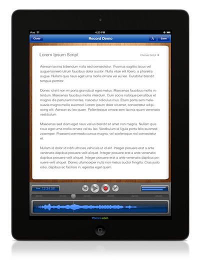 Audio Recording on the iPad