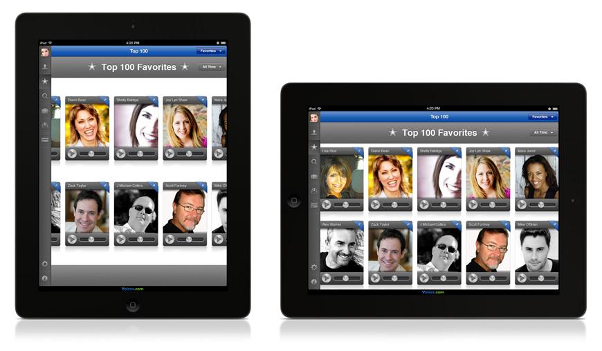 Voices.com iPad App Top 100 List