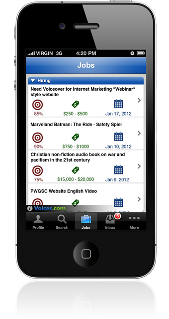 Voice-Over Jobs on iPhone