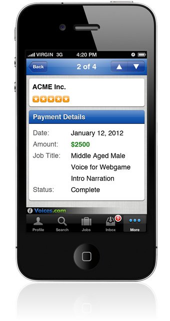 Payments on iPhone and iPod