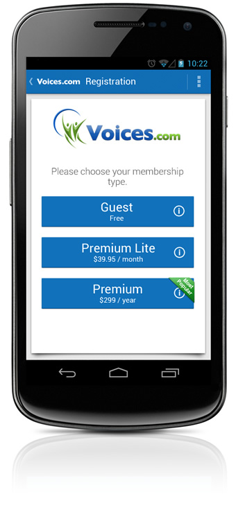 Guest, Premium Lite and Premium Memberships at Voices.com