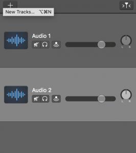 create different audio tracks