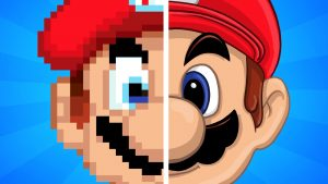 Mario from the 1990's compared to Mario in the the late 2010's