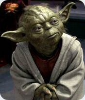 Iconic Star Wars character Yoda, to portray the usage of a passive voice in contract to an active voice for use in an elearning course