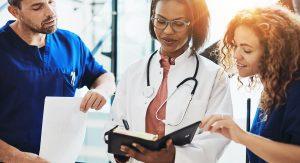 banner image shows medical professionals