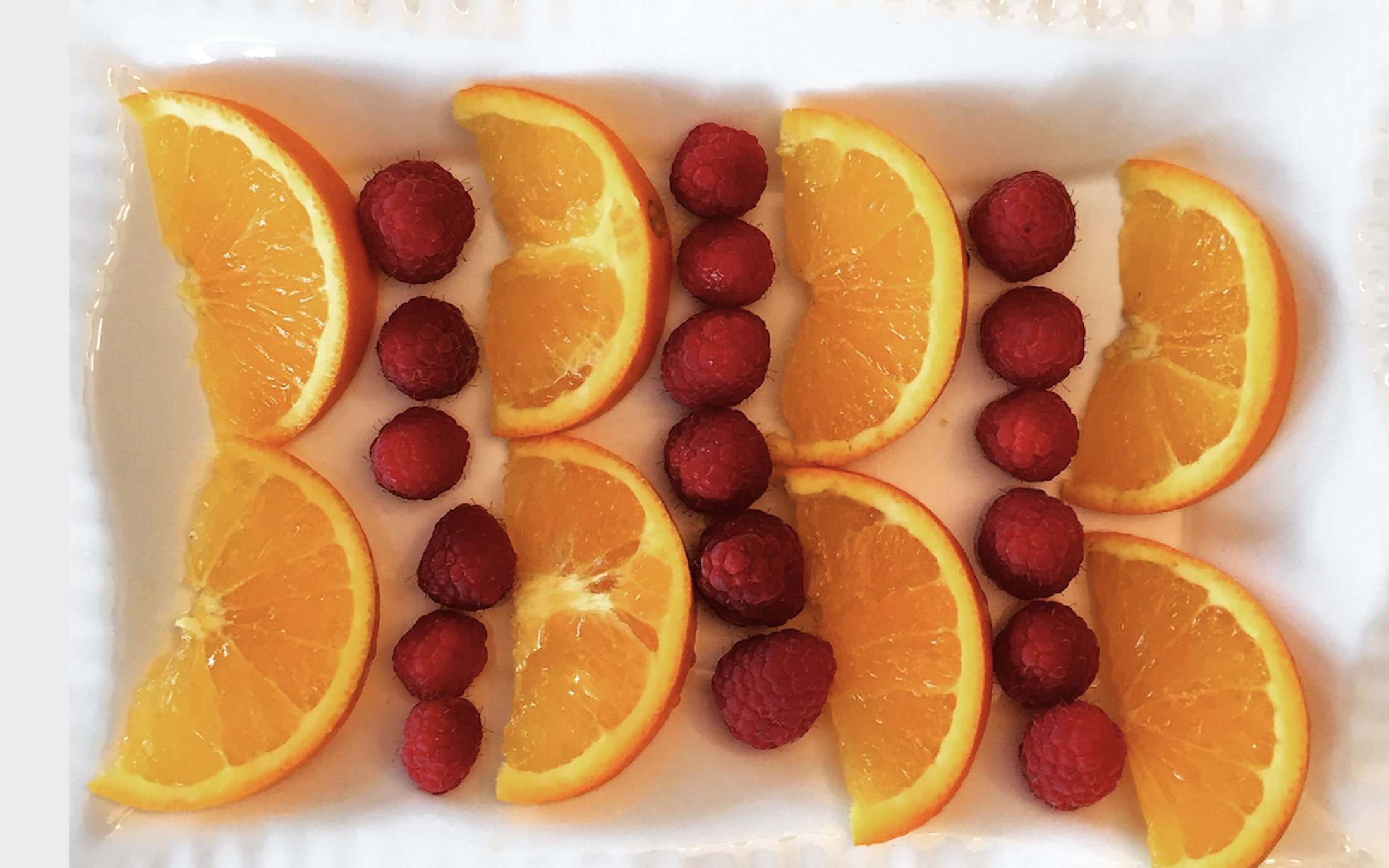 Oranges and Raspberries