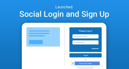 Social Login and Sign Up