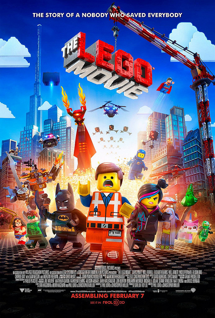 The movie poster for the Lego Movie