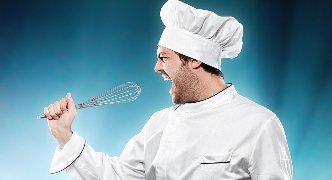 Chef, singing, microphone, whisk