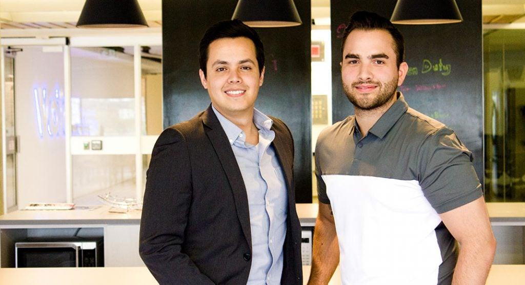 Voices.com employees Sergio Cordoba (left) and Trevon Buccione