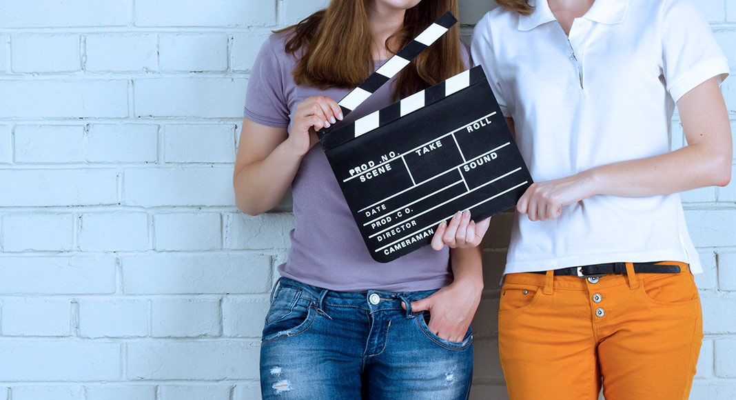 actresses, clapboard, film, auditions, slating