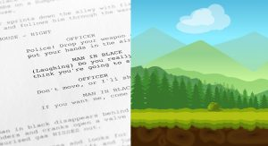 Animation script and animation background