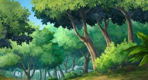 A cartoon background