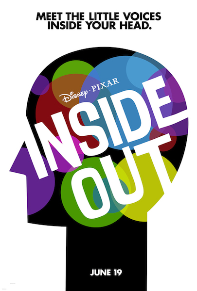 The movie poster for Disney's Inside Out