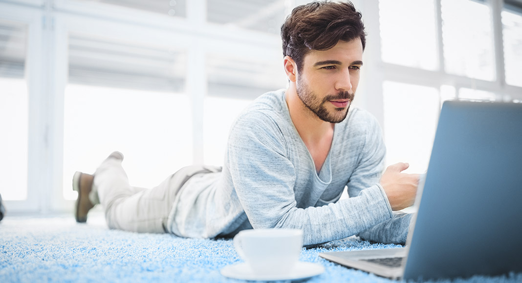 Male creative at work, man, lap top