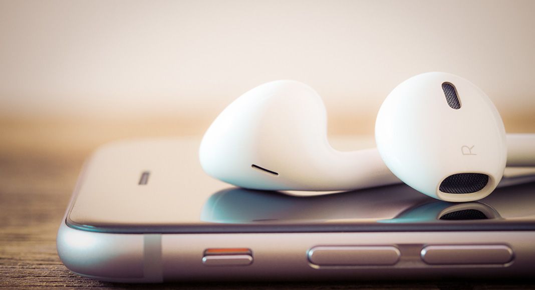 Music player with ear buds