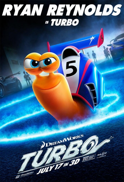 The movie poster for Turbo