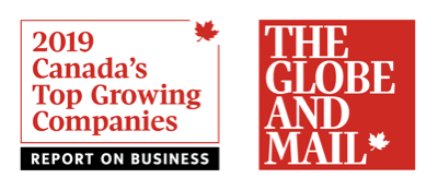 2019 Report on Business Ranking of Canada's Top Growing Companies Award Logo.