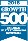 Growth 500 2018 Award Logo.